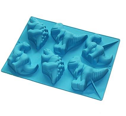 6 cavidades Stegosaurus dinosaurio Forma Silicona de repostería para molde jabón vela moldes para Chocolate