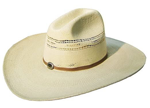 fd15001a5af25 Image Unavailable. Image not available for. Color  Modestone Unisex Large  Brim Straw Cowboy Hat ...
