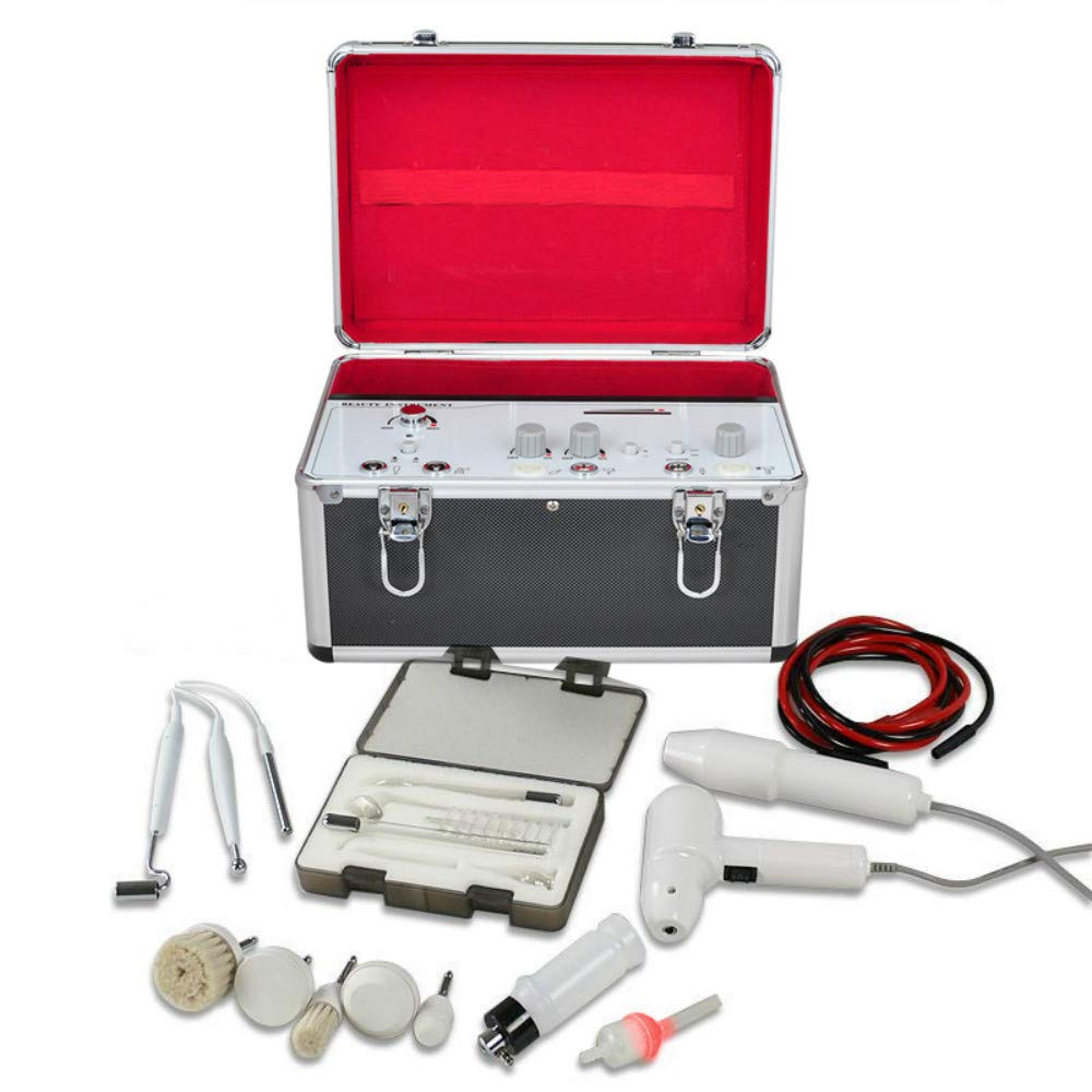 Enshey 5 in1 Galvanic Facial Brush Anti-Aging Vacuum Spray Skin Clean Beauty Machine (Shipped from US)