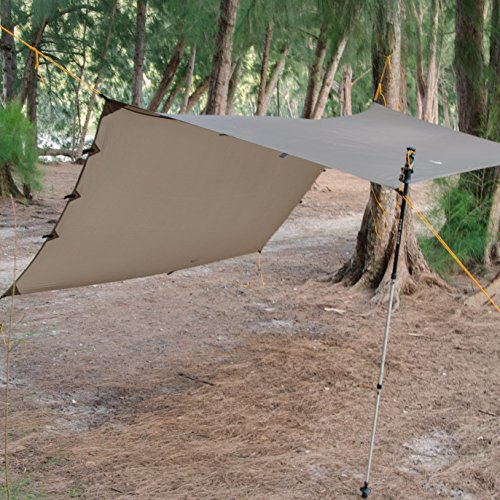 Go Outfitters Apex Camping Shelter/Hammock Tarp (Coyote Brown)