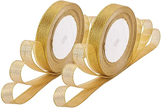 ORGANZA RIBBON  VARIOUS COLOURS  25yd roll 15mm 5//8/""