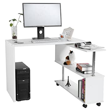 Zerone Table D Ordinateur En Forme De L Meuble De Bureau