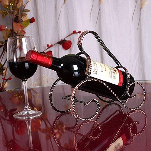 CdyBox Elegant Magic Metal Wire Wine Rack Single Bottle Holder Stand Wine Rack (Bronze)