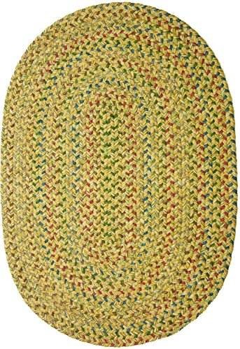 Sand 3x5 Area - Sonya Indoor/Outdoor Oval Reversible Braided Rug, 3 by 5-Feet, Sand Multicolor