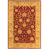 Safavieh Heritage Collection HG813A Handcrafted Traditional Oriental Red and Gold Wool Area Rug (6 x 9)