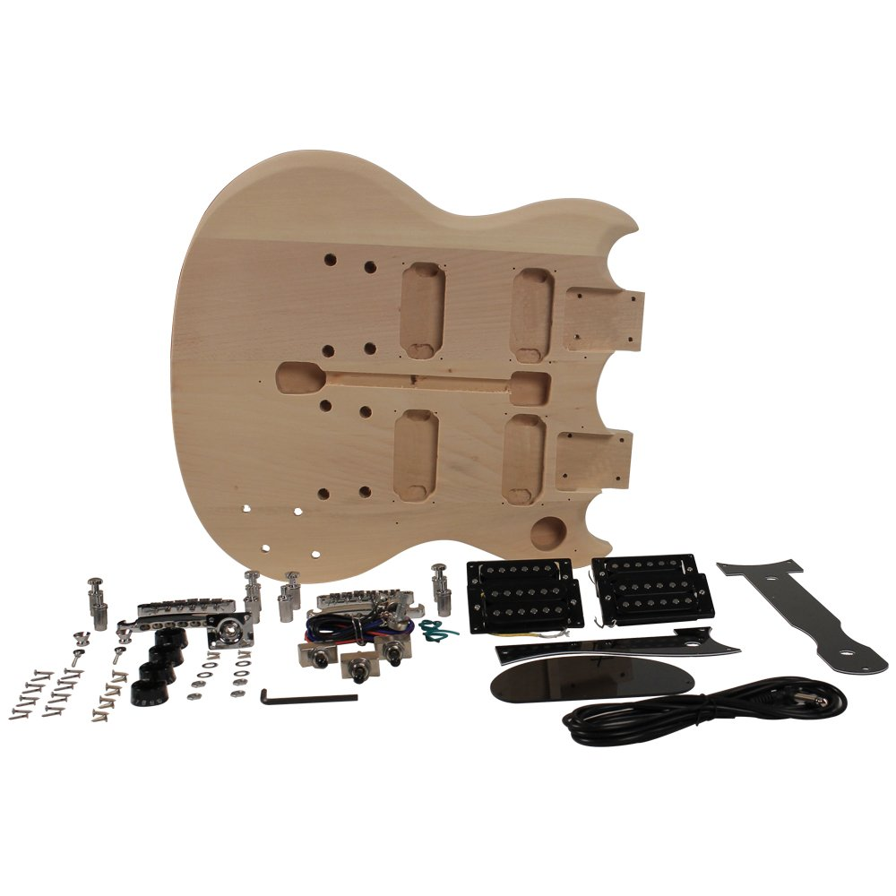 Premium Double Neck Style Diy Electric Guitar Kit Sg Wiring Diagram Musical Instruments