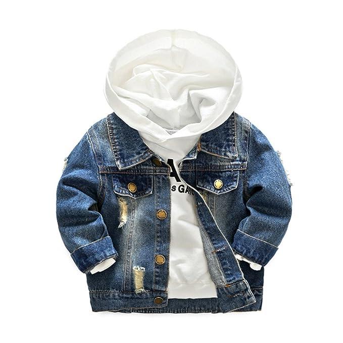 Amazon.com: Niños vaquera chaquetas y sudaderas con capucha ...