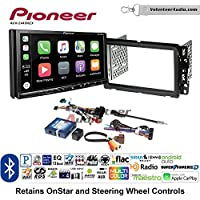 Volunteer Audio Pioneer AVH-2440NEX Double Din Radio Install Kit with Apple CarPlay, Android Auto and Bluetooth Fits 2013-2014 Buick Enclave, 2013-2014 Chevrolet Traverse
