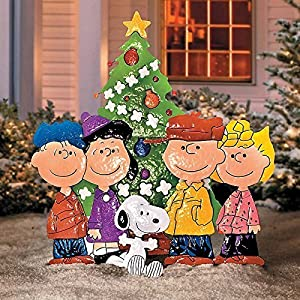 Peanuts Gang Around Tree Yard Art Home Kitchen
