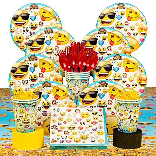 Emoji Birthday Party Tableware Kit for 8