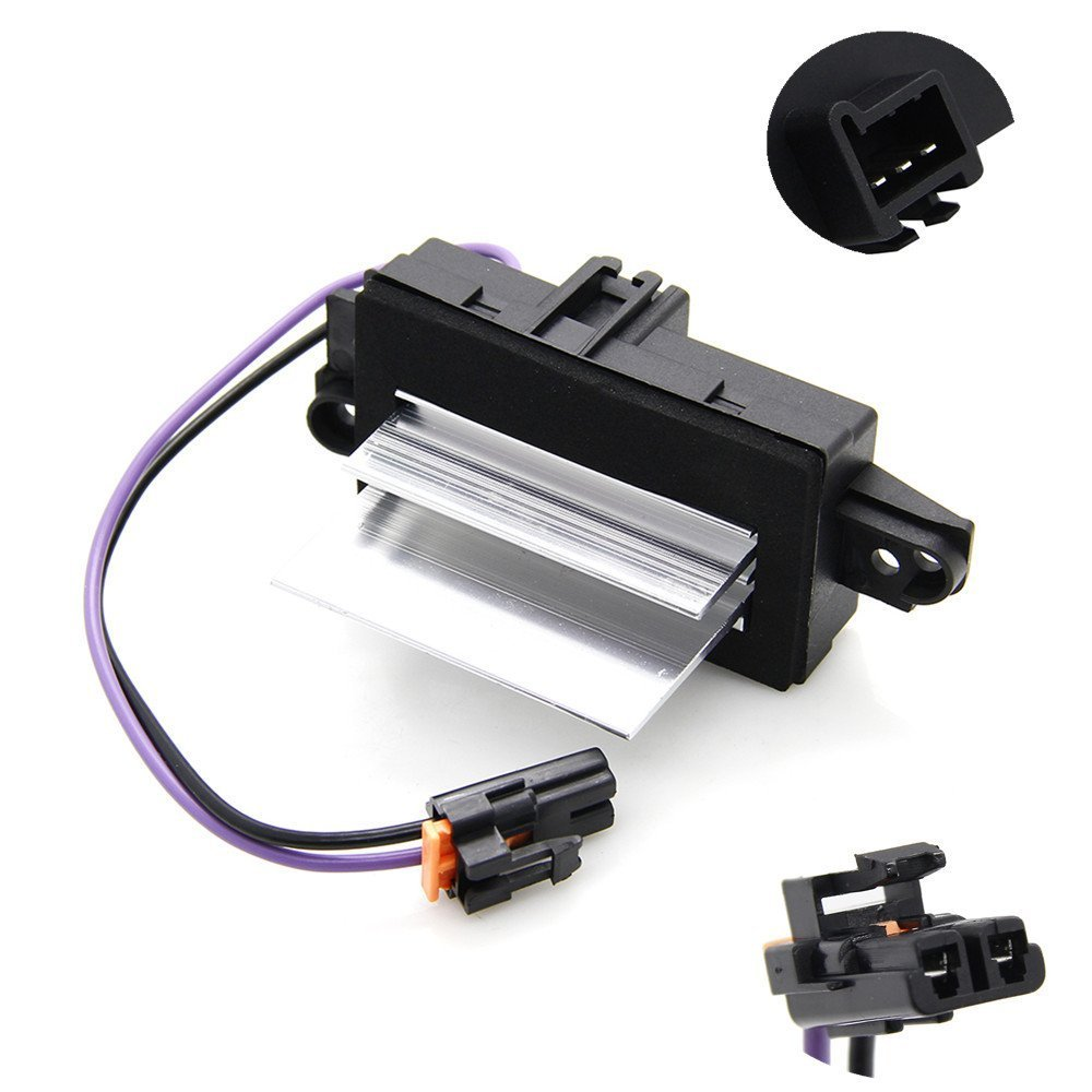 Updated Heating and Air Conditioning Blower Motor Resistor AC Blower Control Module For GMC Chevrolet Buick Cadillac 4P1516 MT1805 RU-631 JA1639 Shinehome 10021027
