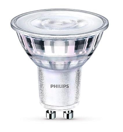 Philips - Bombilla LED Foco GU10 Cristal, 5 W Equivalente a 65 W, Luz