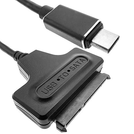 BeMatik - Adaptador USB-C 3.1 Macho a SATA 15+7 Pin para Disco ...