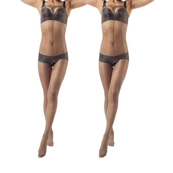 2 opinioni per ElsaYX Collant in nylon lucenti modello intero