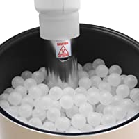 NutriChef Premium Sous Vide Balls 250 White, Includes Drying Bag for Cookers & Immersion Circulators, Reduces Heat Loss…