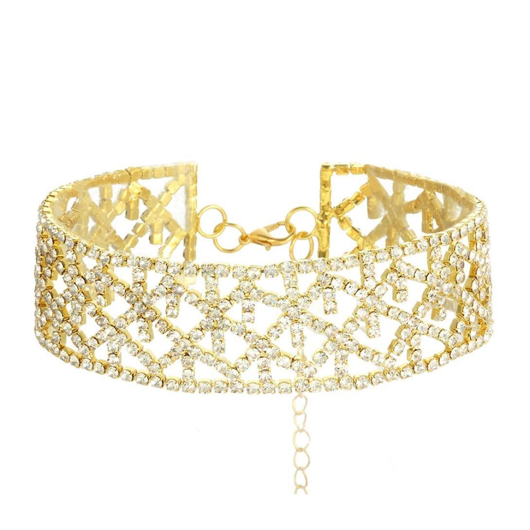 Y56 Frauen Kristall Halskette Exquisite Schmuck Erklärung Anhänger Charm Kette Choker