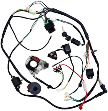 Amazon.com: ZXTDR Full Wiring Harness Loom Kit CDI Coil Magneto Kick Start  Engine for 50cc 70cc 90cc 110cc 125cc ATV Quad Bike Buggy Go Kart Pit Dirt:  AutomotiveAmazon.com