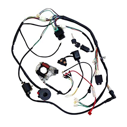 dune buggy wiring harness kit wiring diagram Toyota Buggy amazon jcmoto full wiring harness loom kit cdi coil magnetoamazon jcmoto full wiring harness loom kit cdi coil magneto kick start engine for 50cc