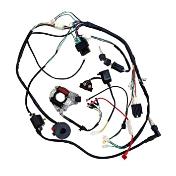 Jcmoto Full Wiring Harness Loom Kit Cdi Coil Magneto Kick Start