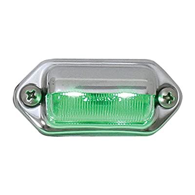 GG Grand General 81732 Green LED Light (Interior/Utility 2, Chrome Housing): Automotive