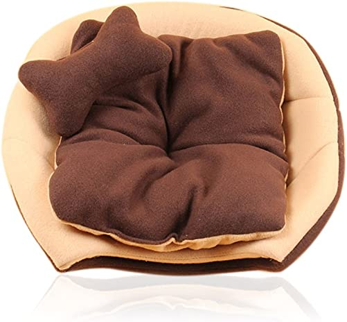 Giveme5 Cozy Pet Dog Cat Cave Mongolian Yurt Shaped House Bed Sofa with Removable Cushion Inside