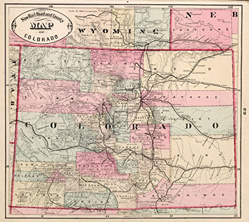 World Atlas Map, Colorado. 1882 | Historic Antique Vintage Map (1882 Antique Map)