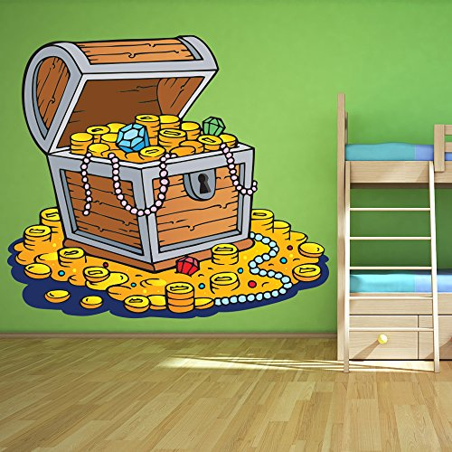 Pirates Kids Wall Decal: Pirate Treasure Chest Wall Decals