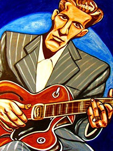 CHET ATKINS PRINT POSTER cd lp record album Nashville Cat bluegrass Gibson guitar art Country Gentleman ()