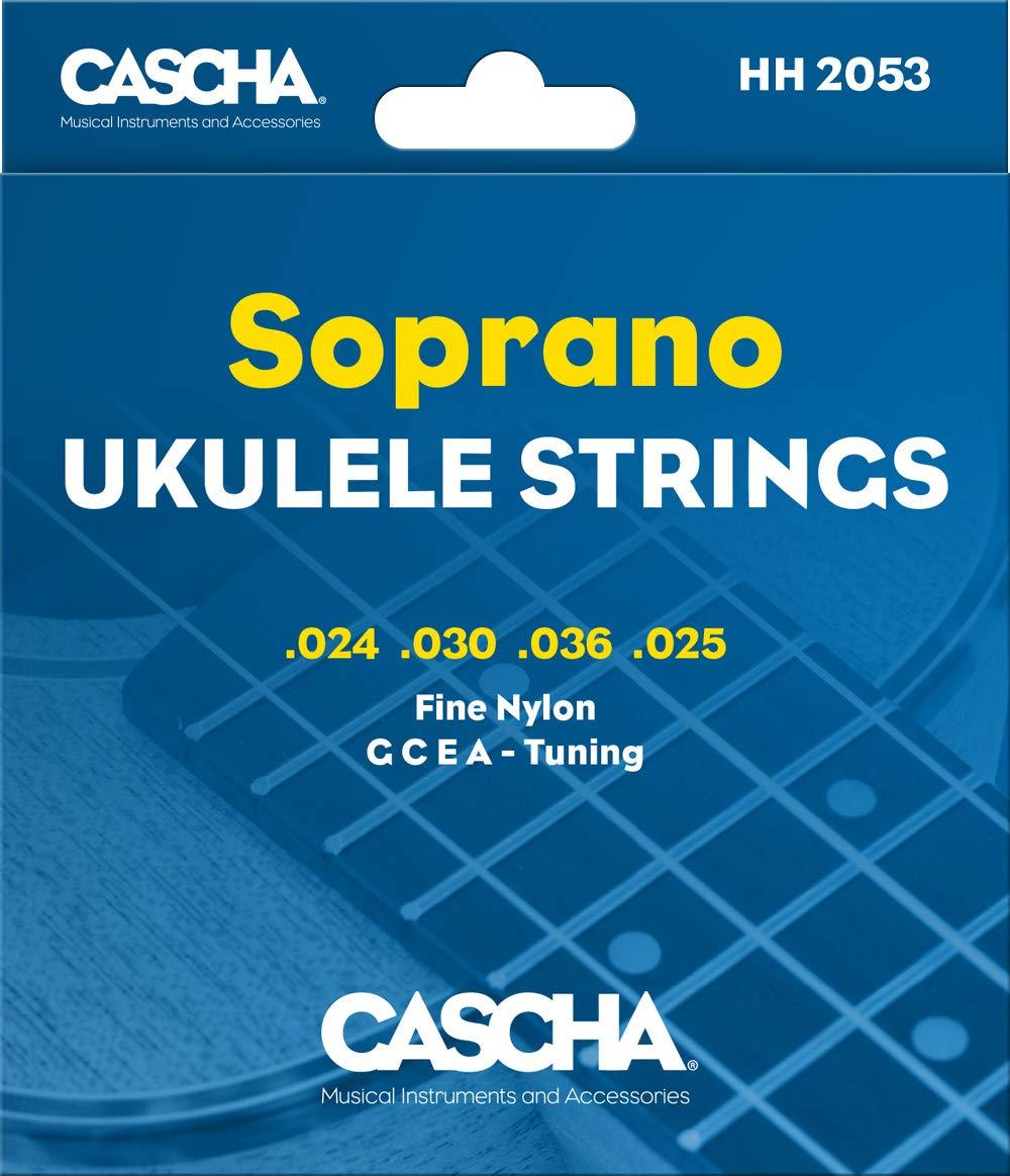 CASCHA Premium Sopran Ukulele Saiten - Set mit 4 Saiten (G C E A):  Amazon.de: Musikinstrumente