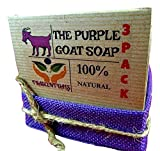 Handmade Goat Milk Soap With Lavender Essential Oil Made To Be Extra Moisturizing Helps With Dry Skin, Acne, Eczema, and Psoarisis (3 PACK)