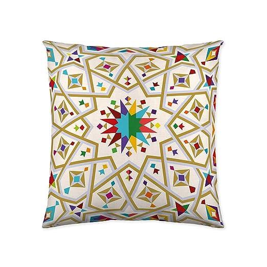 COTTON ARTean Funda de Cojin Marruecos 60X60 cm. Color Degradado.