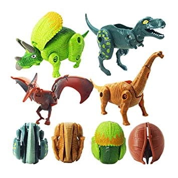 Simulation Tyrannosaurus Figure Dinosaur Egg Model Animal Figurine Kids Gift