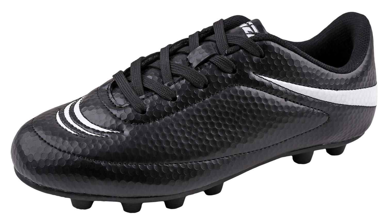 Vizari Boys Infinity Soccer Shoes 90042Black/White 2 by Vizari