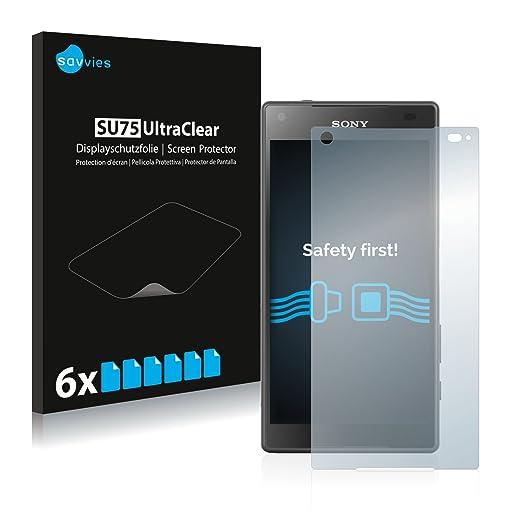 2 opinioni per [6 Pack] Savvies Pellicola Protettiva per Sony Xperia Z5 Compact Protezione