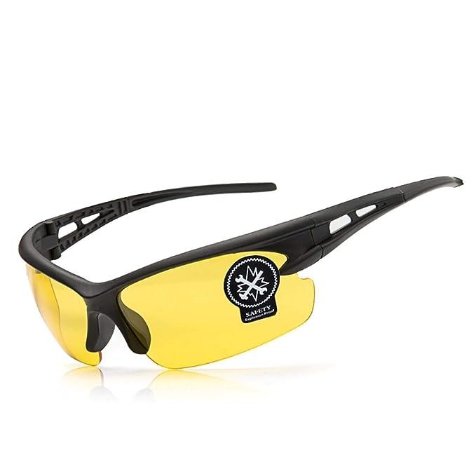 Beydodo Gafas Antivaho Seguridad Gafas Deporte Polarizadas Gafas de Protección Antivaho Gafas de Moto Amarillo: Amazon.es: Ropa y accesorios