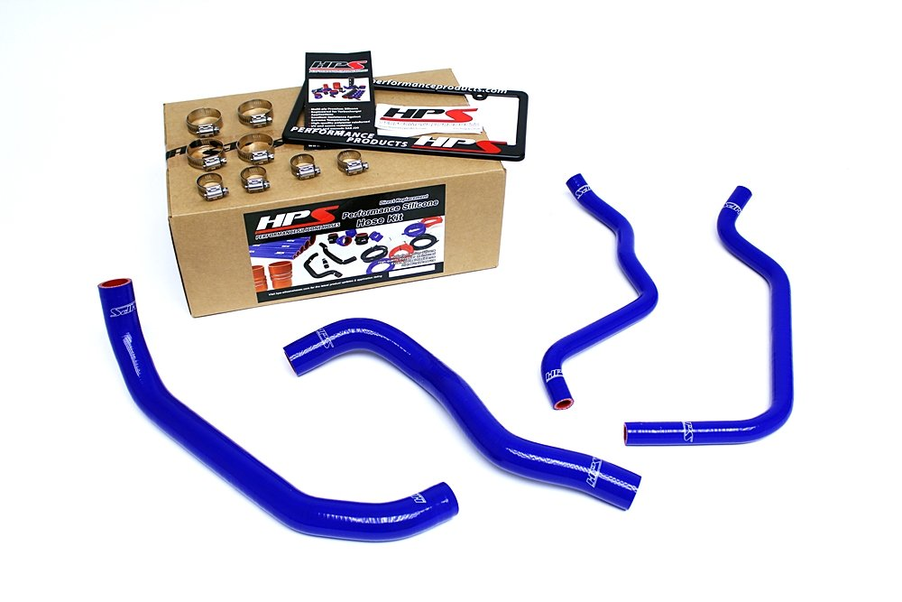 HPS 57-1389-BLUE Silicone Radiator and Heater Hose Kit Coolant by HPS (Image #1)