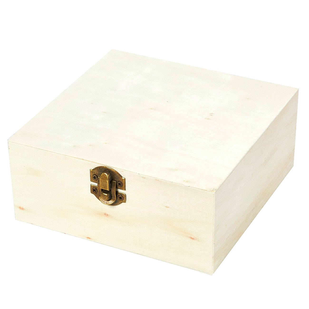 Juvale Wooden Boxes - 5-Piece Hinged-Lid Nesting Boxes Arts, Crafts, Hobbies Home Storage, Unfinished Wood, Natural Wood Color by Juvale (Image #4)