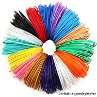 PLASFIL 15 Vibrant Colors 3D Pen Filament Refills 1.75mm ABS Filament Pack 20Feet Each Color by PLASFIL