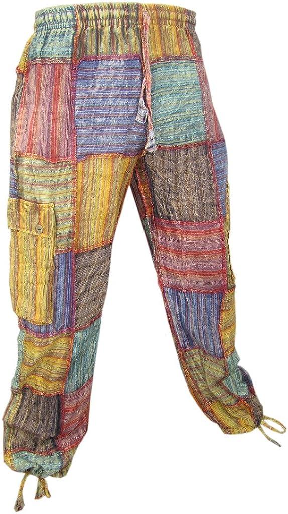 Pantaloni estivi in cotone patchwork Little Kathamandu
