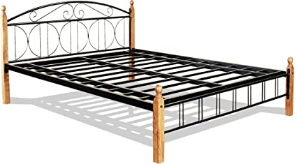 f5e56df47d4b Image Unavailable. Image not available for. Colour  FurnitureKraft Georgia  Metal King Size Double Bed ...