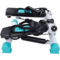 Fitness Stepper, Indoor Domestic Fitness Equipment Stepper with Removable Training Strap & Height Adjustment Knob Leg…