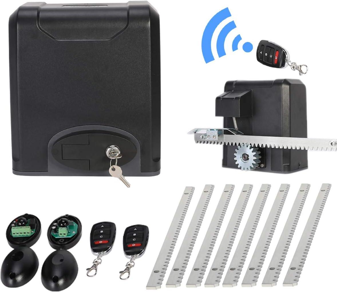 Sfeomi - Abrepuertas automático para garaje, operador eléctrico de puerta corredera, kit con mandos a distancia Arm Swing Gate Opener 200 W: Amazon.es: Bricolaje y herramientas