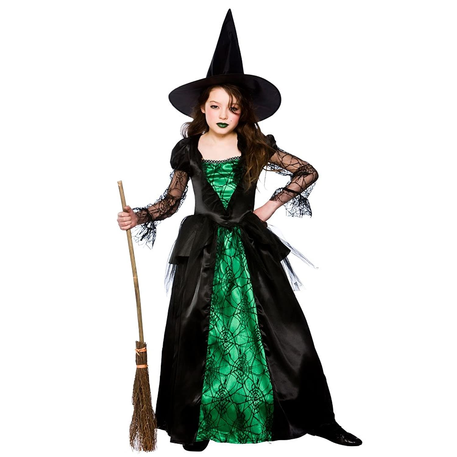S) Wicked Witch Girls Witch Costumes Kids Witches Halloween Trick ...