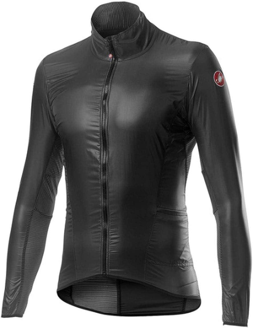 Giacca Sportiva Uomo L Castelli Aria Shell Jacket Dark Gray