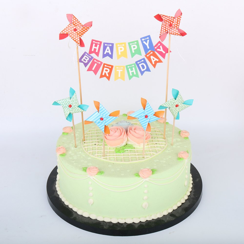 Enjoyable Lxzs Bh Lveud Happy Birthday Cake Topper Banner With Small Funny Birthday Cards Online Inifofree Goldxyz