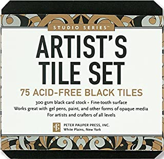 Studio Series Artist's Tile Set: Black: 75 Acid-Free Black Tiles