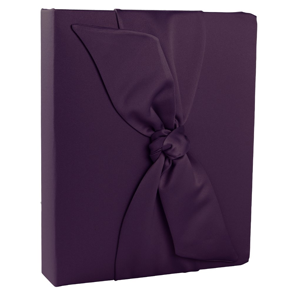 Ivy Lane Design Love Knot Wedding Memory Book, Eggplant