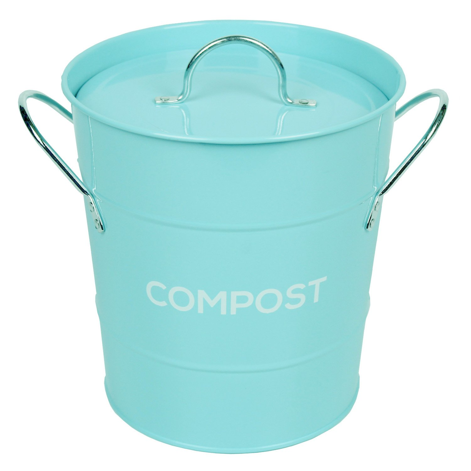 Elegant Amazon.com: Light Blue Metal Kitchen Compost Caddy   Composting Bin For  Food Waste Recycling By The Caddy Company: Appliances