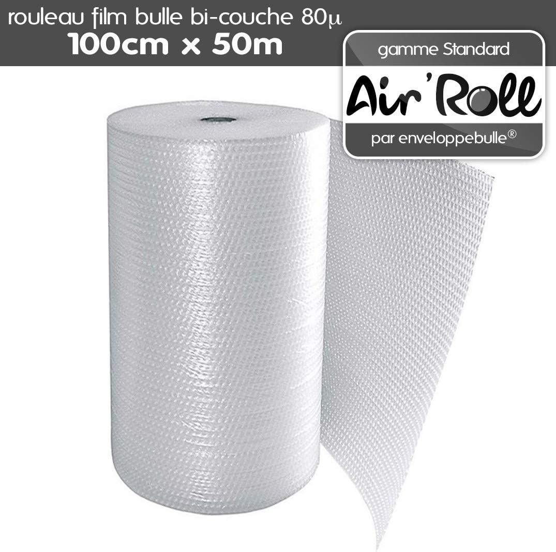 1 Rouleau de film bulles largeur 0,50m x longueur 50m