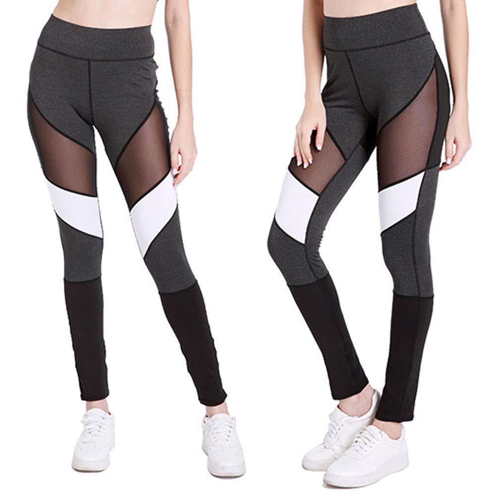 Mujer Pantalones de Yoga,❤️ LEvifun Las Mujeres de la Cintura Yoga Fitness Leggings Running Apretados Gym Stretch Sports Pants Pantalones Conjuntos de lencería